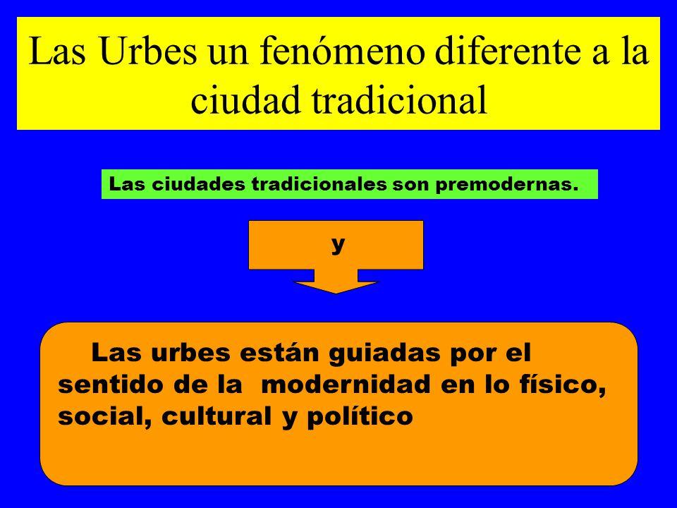 Las Urbes un fenómeno diferente a la ciudad tradicional