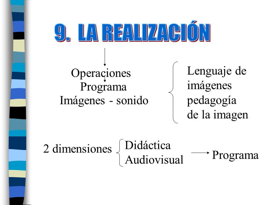 9. LA REALIZACIÓN Lenguaje de imágenes pedagogía de la imagen