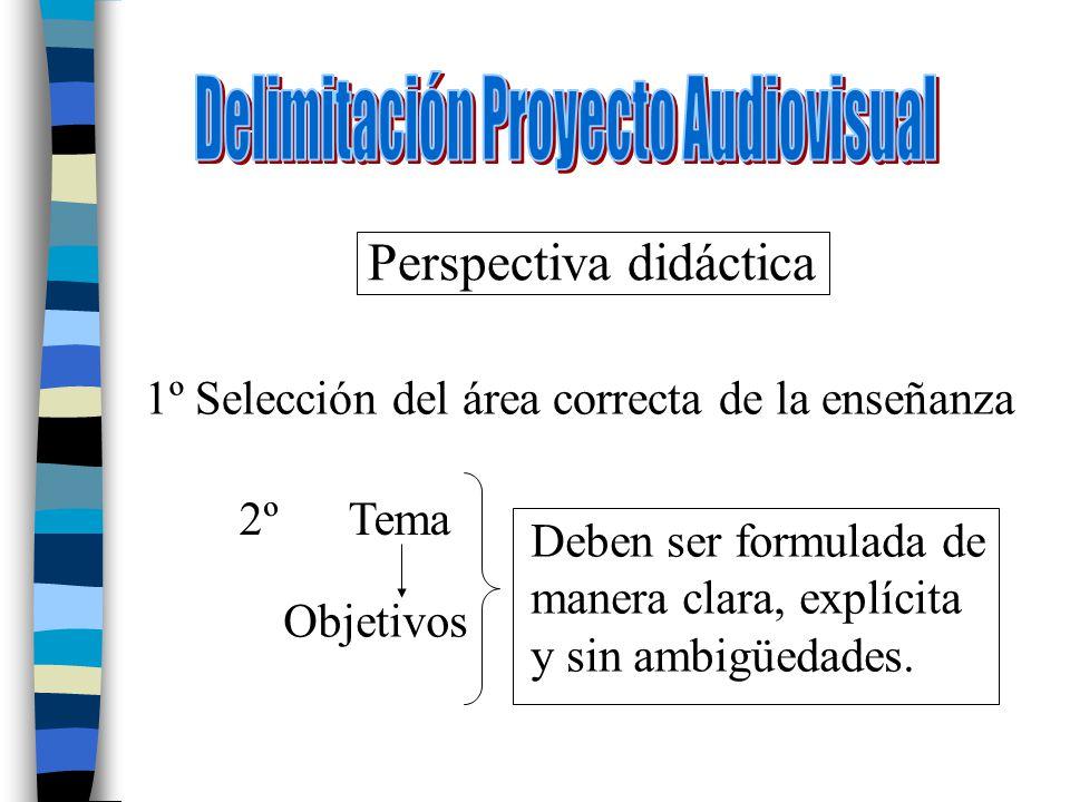 Delimitación Proyecto Audiovisual