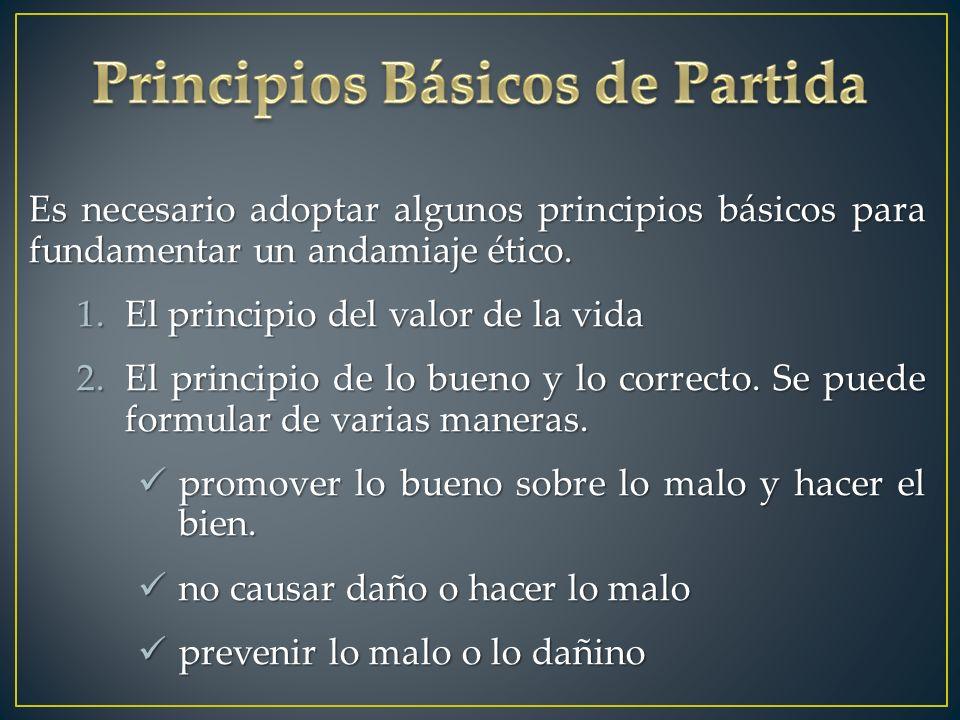 Principios Básicos de Partida