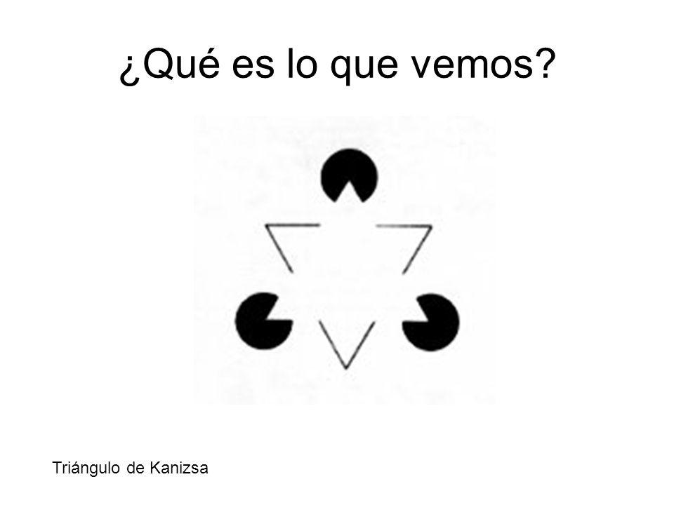 ¿Qué es lo que vemos Triángulo de Kanizsa