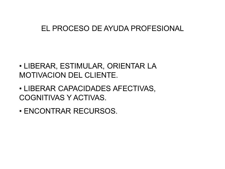 EL PROCESO DE AYUDA PROFESIONAL