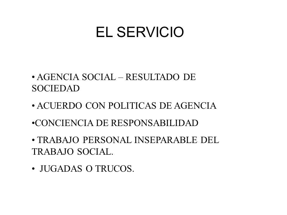 EL SERVICIO AGENCIA SOCIAL – RESULTADO DE SOCIEDAD