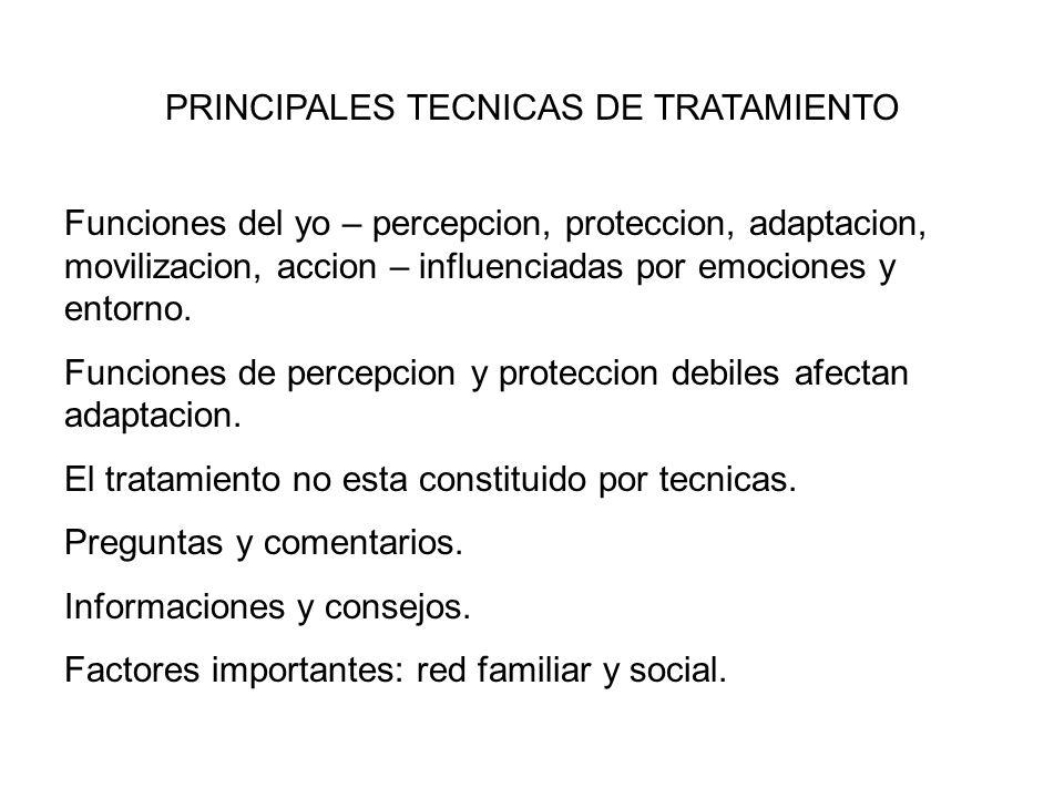 PRINCIPALES TECNICAS DE TRATAMIENTO