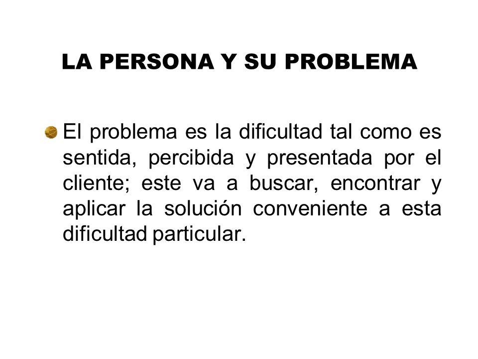 LA PERSONA Y SU PROBLEMA