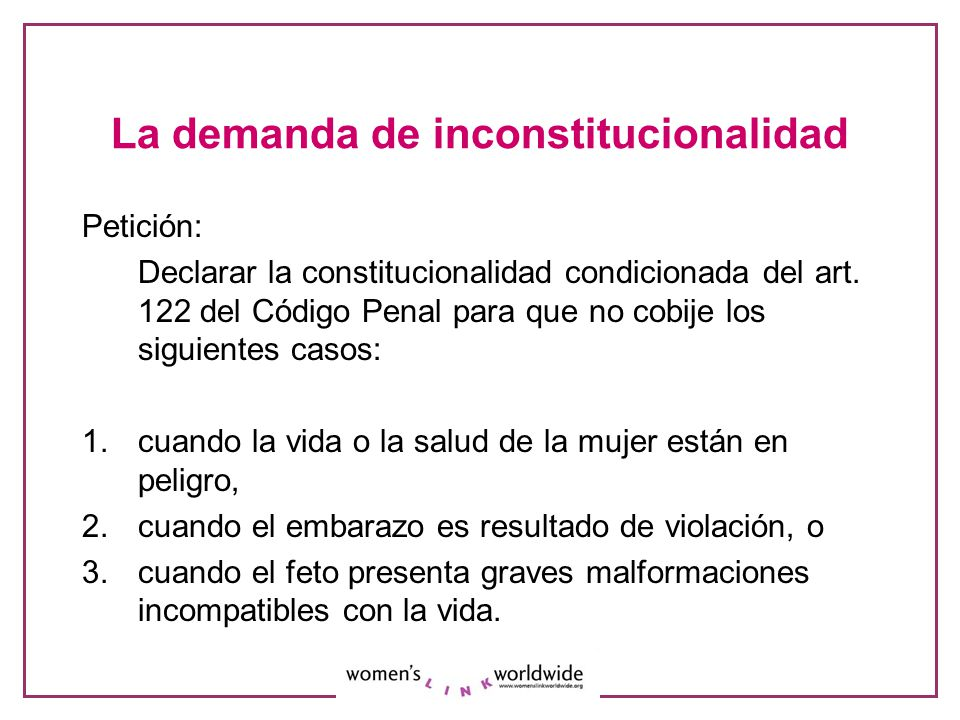 La demanda de inconstitucionalidad