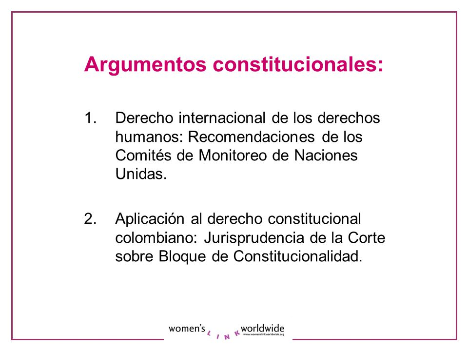 Argumentos constitucionales: