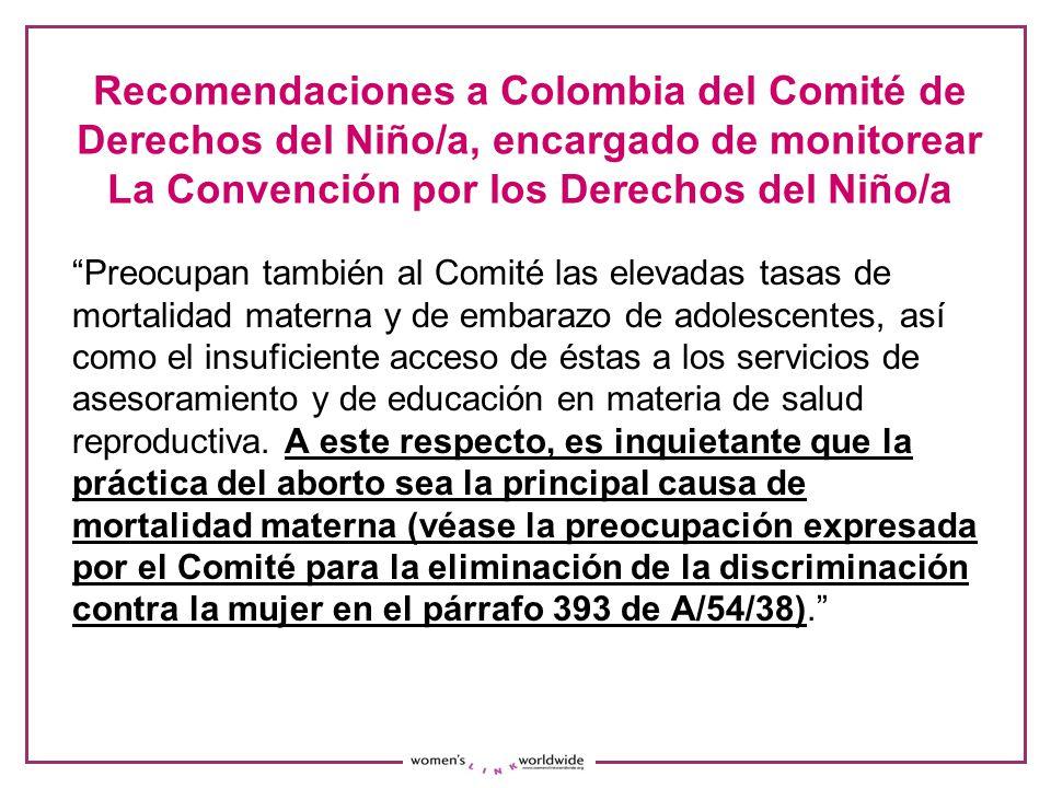 Recomendaciones a Colombia del Comité de Derechos del Niño/a, encargado de monitorear La Convención por los Derechos del Niño/a