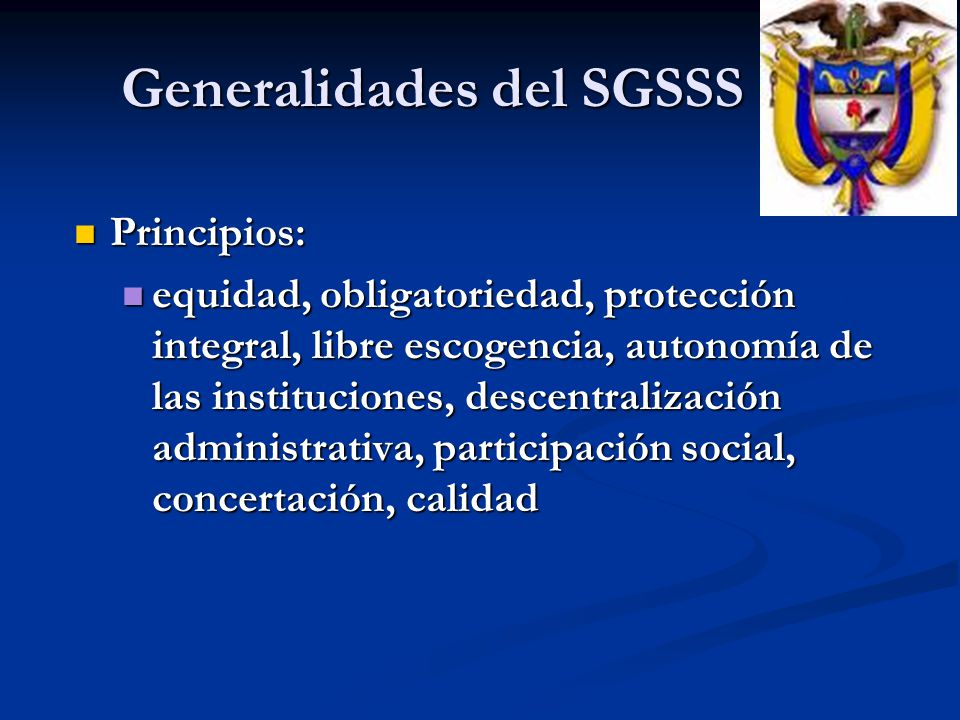 Generalidades del SGSSS