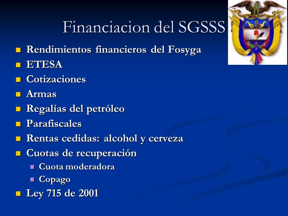 Financiacion del SGSSS