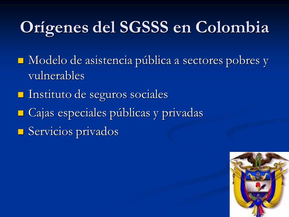 Orígenes del SGSSS en Colombia