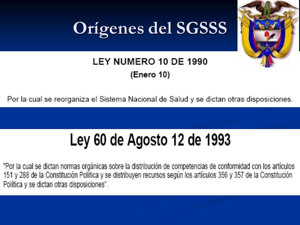 Orígenes del SGSSS