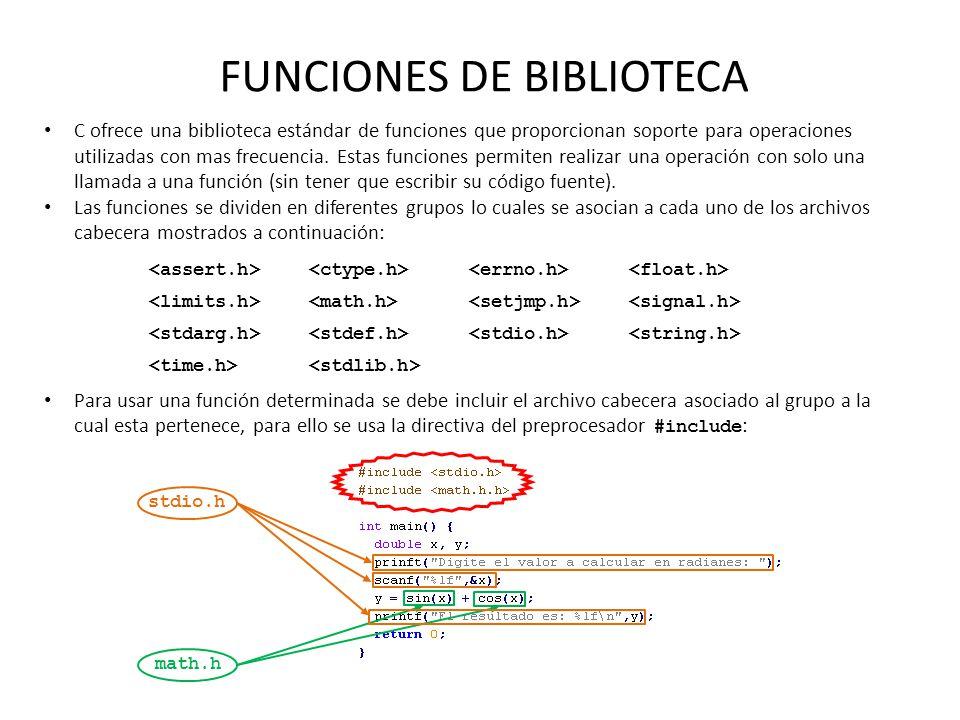 FUNCIONES DE BIBLIOTECA