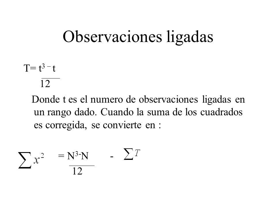 Observaciones ligadas