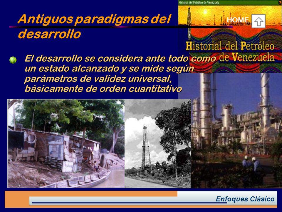 Antiguos paradigmas del desarrollo