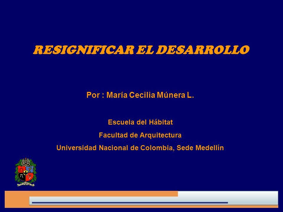 RESIGNIFICAR EL DESARROLLO