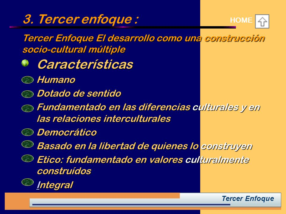3. Tercer enfoque : Características