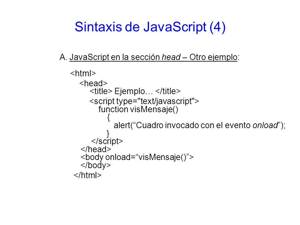 Sintaxis de JavaScript (4)