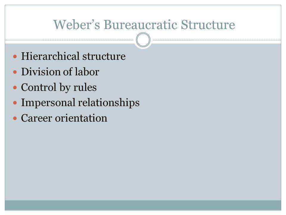 Weber's Bureaucratic Structure