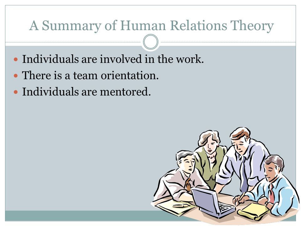 A Summary of Human Relations Theory