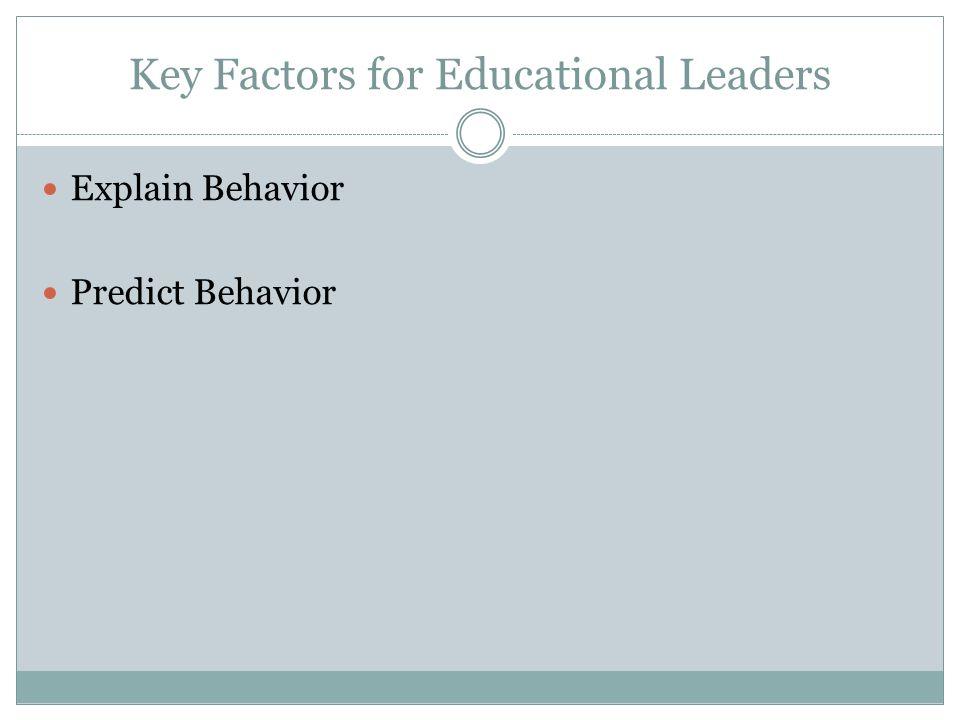 Key Factors for Educational Leaders