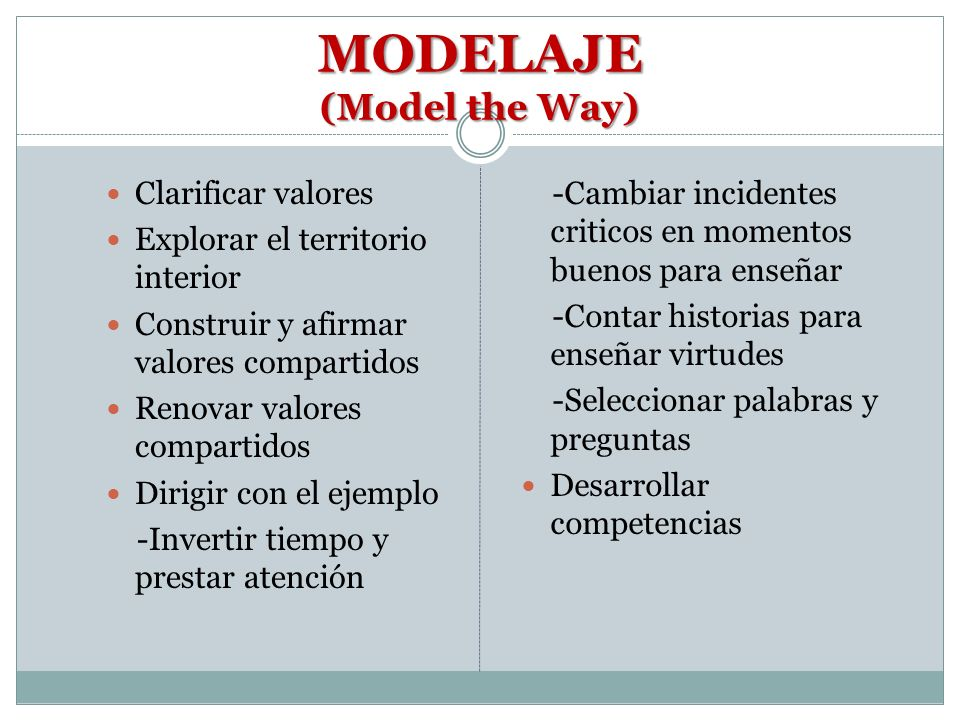MODELAJE (Model the Way)