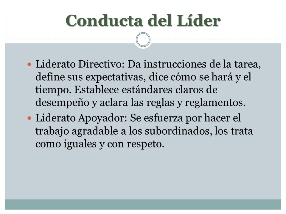 Conducta del Líder