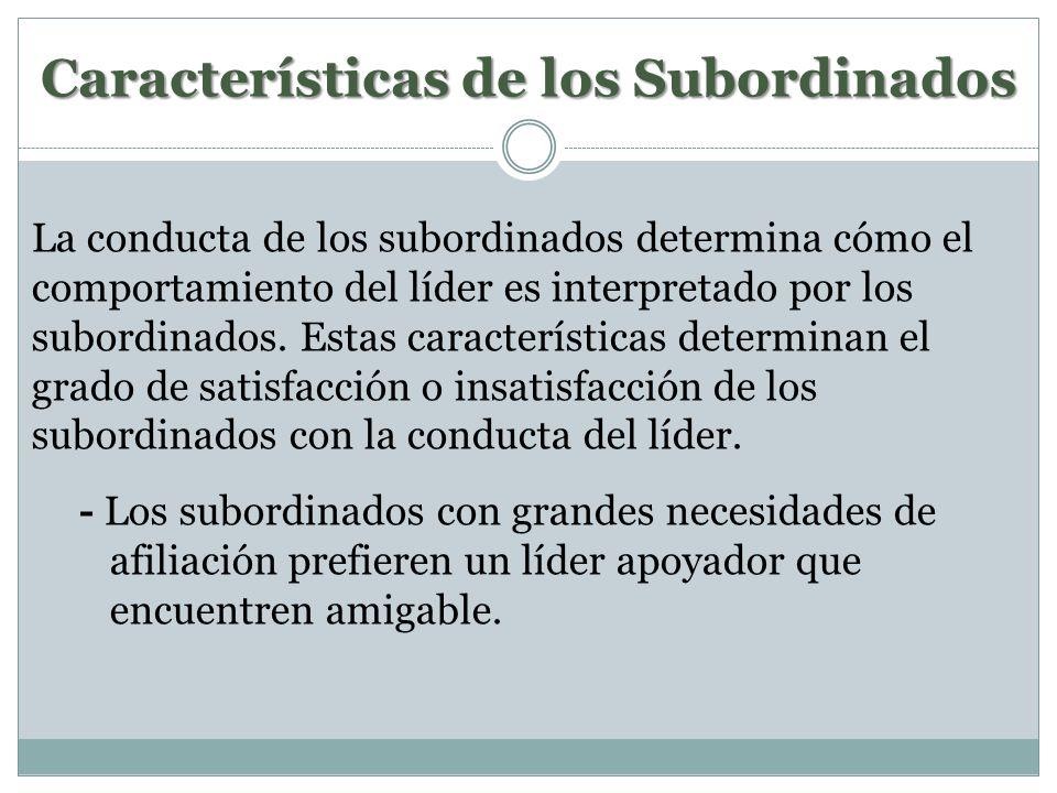 Características de los Subordinados