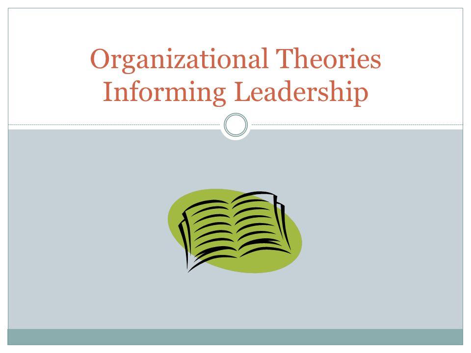 Organizational Theories Informing Leadership