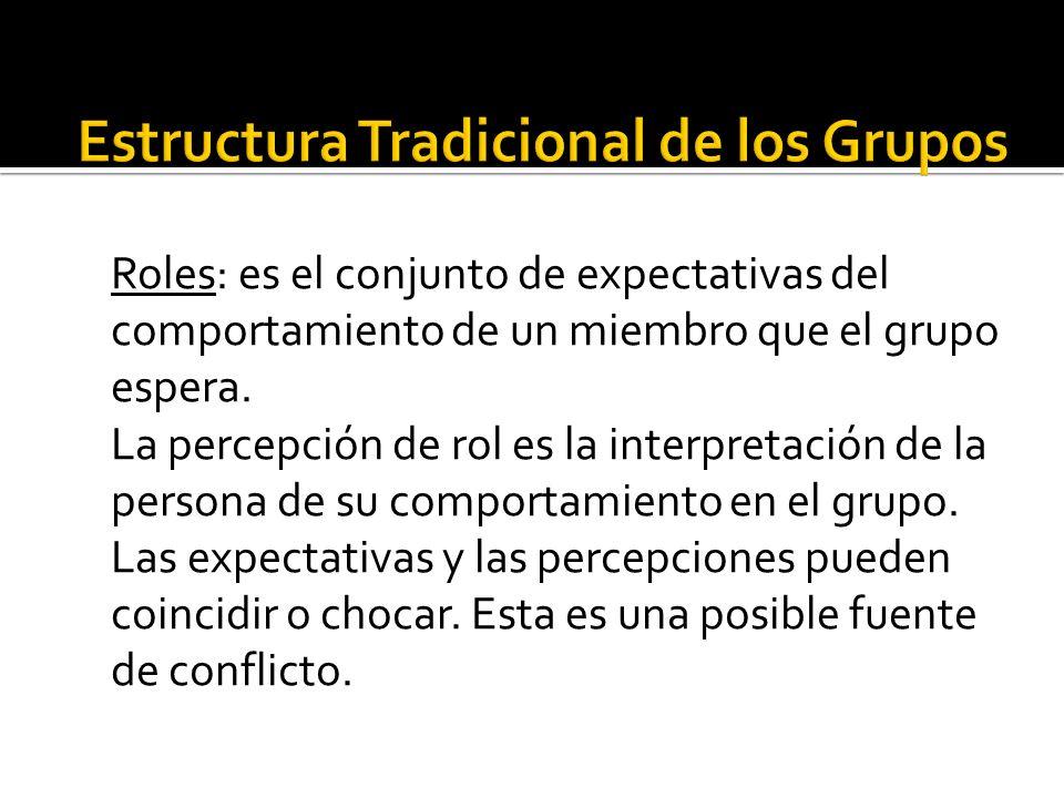 Estructura Tradicional de los Grupos