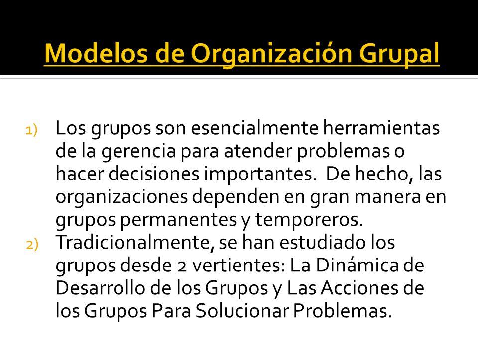 Modelos de Organización Grupal