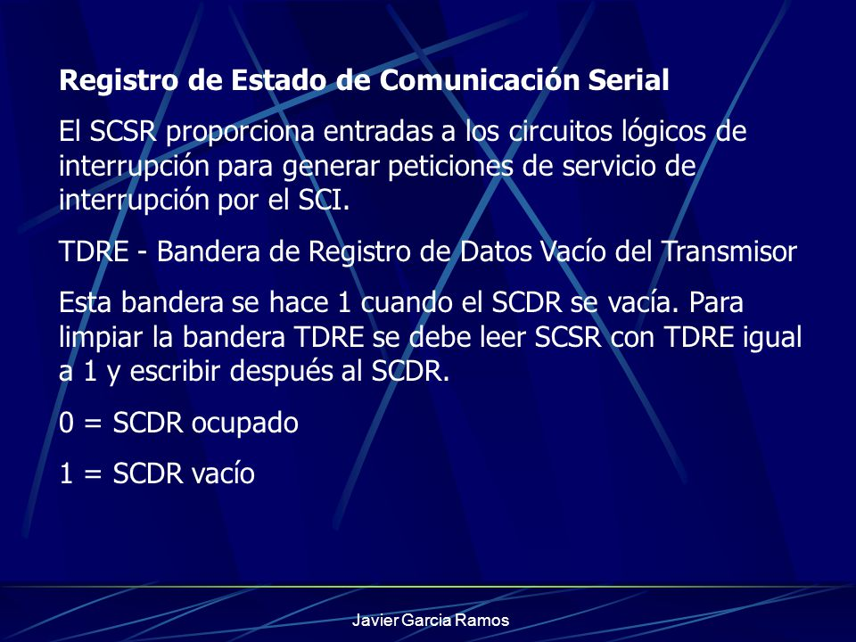 Registro de Estado de Comunicación Serial