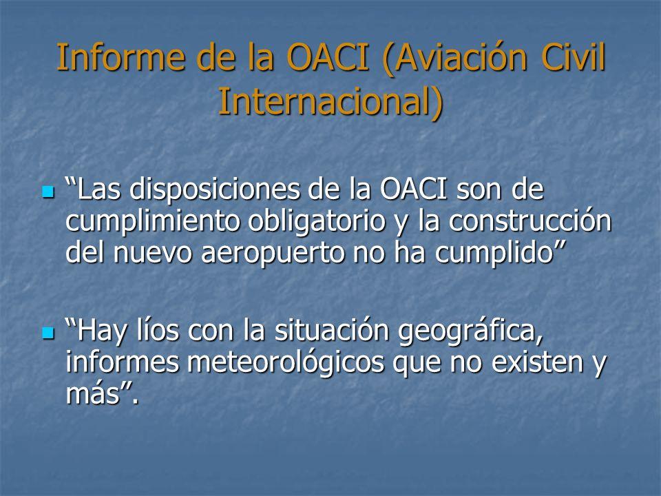 Informe de la OACI (Aviación Civil Internacional)