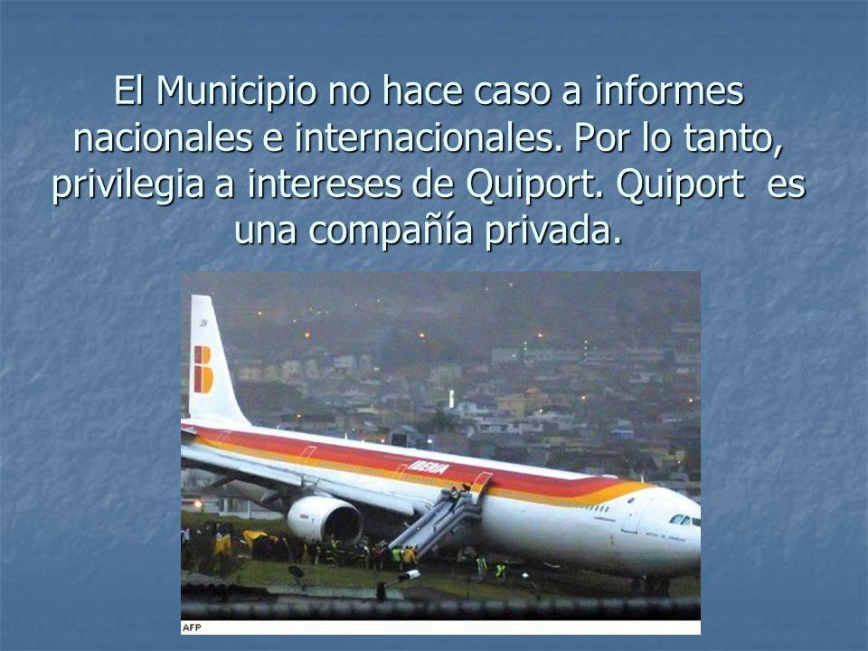 El Municipio no hace caso a informes nacionales e internacionales