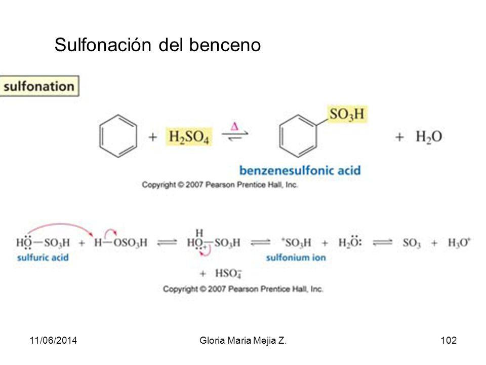 Sulfonación del benceno