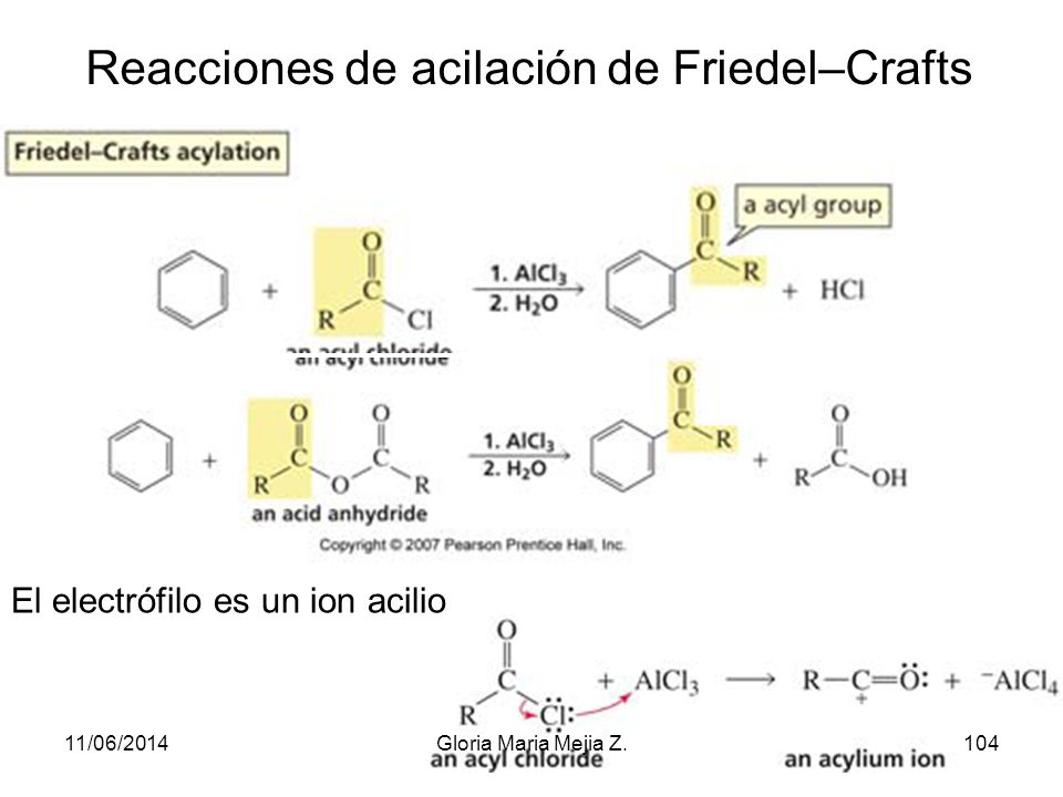 Reacciones de acilación de Friedel–Crafts