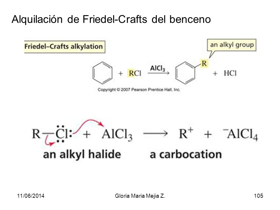 Alquilación de Friedel-Crafts del benceno