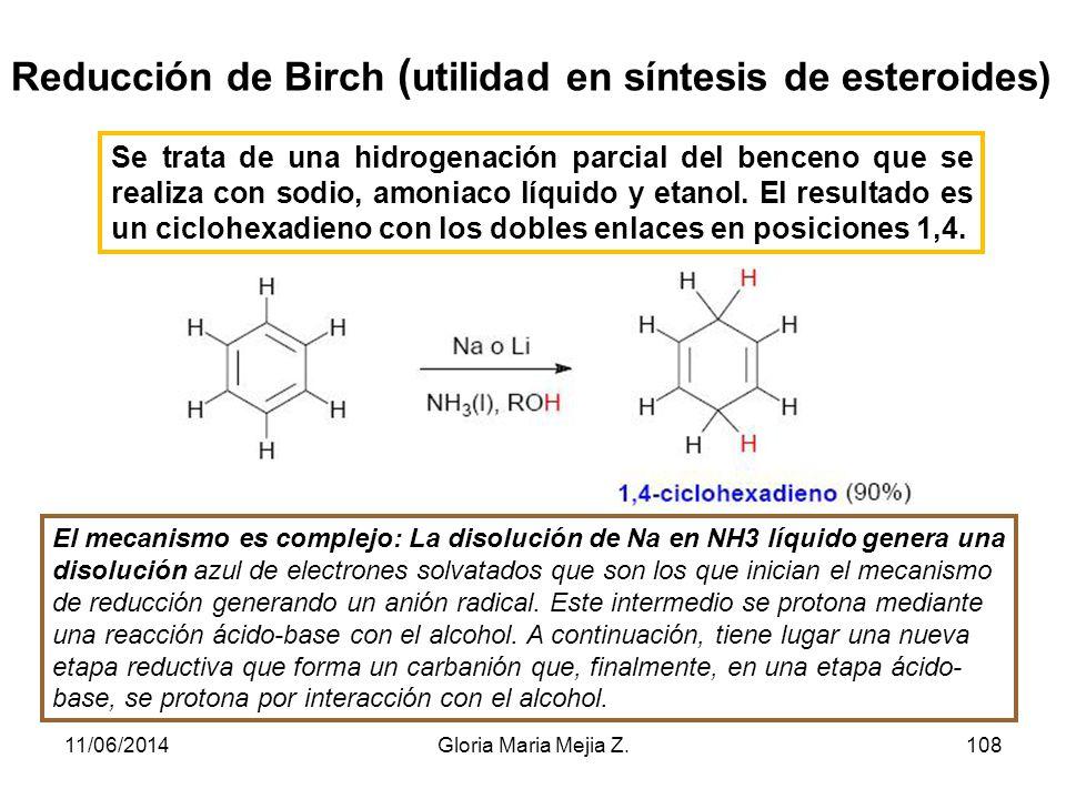 Reducción de Birch (utilidad en síntesis de esteroides)