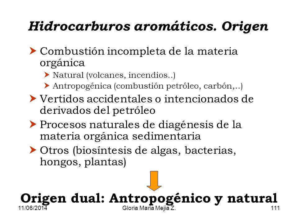 Hidrocarburos aromáticos. Origen