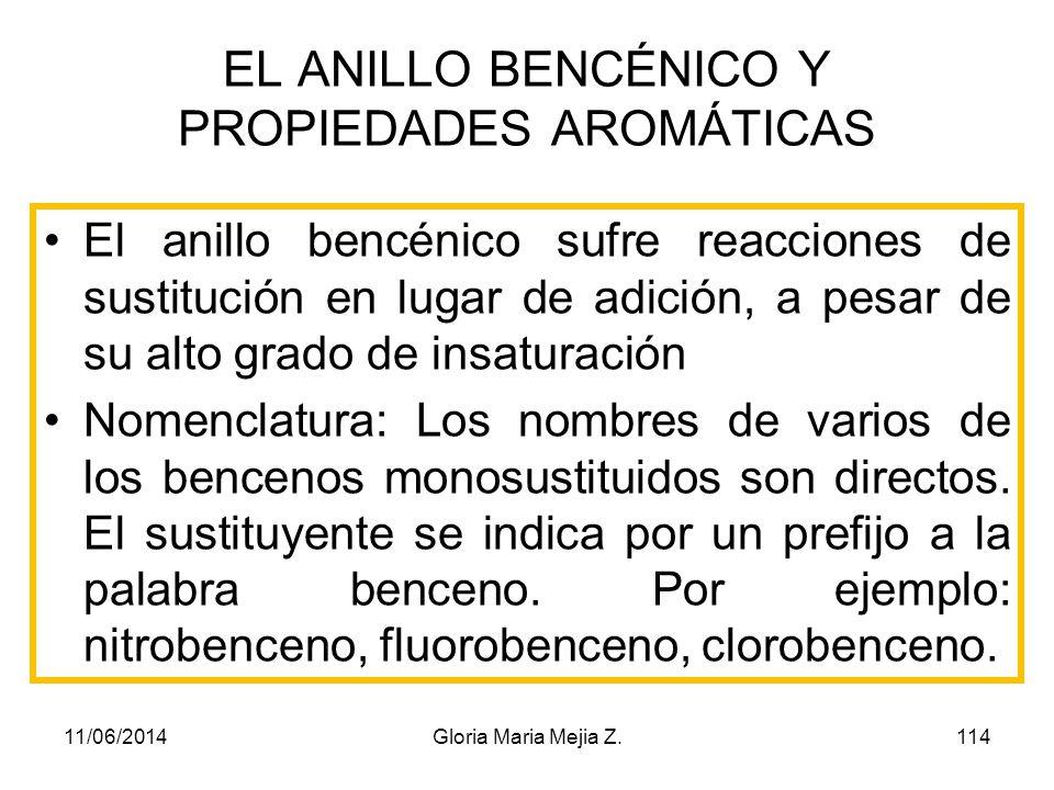 EL ANILLO BENCÉNICO Y PROPIEDADES AROMÁTICAS