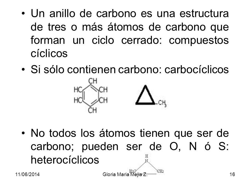 Si sólo contienen carbono: carbocíclicos