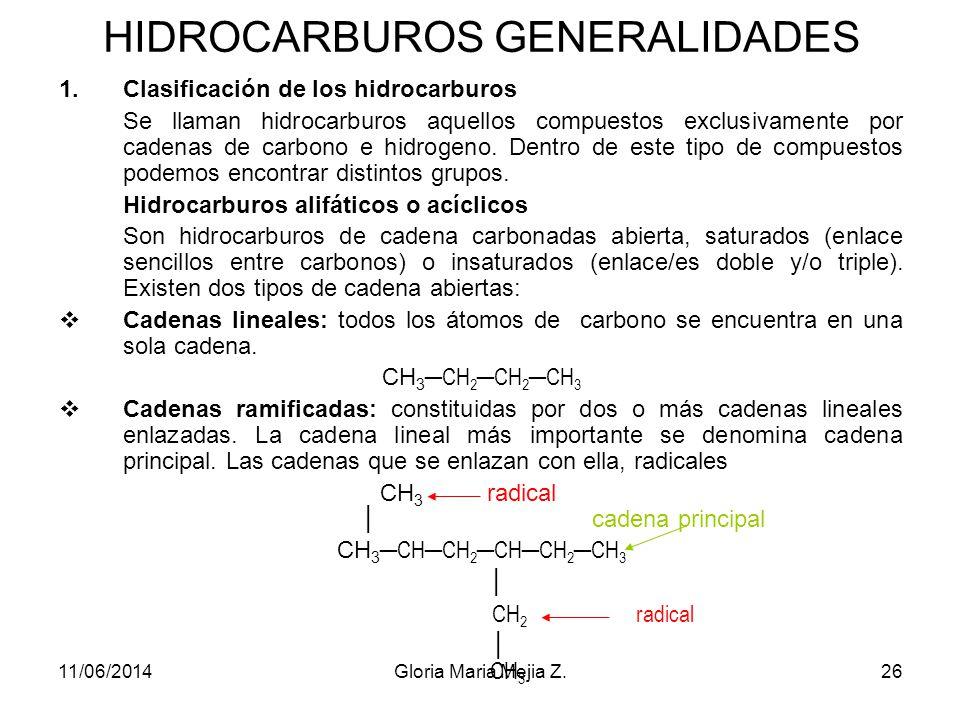 HIDROCARBUROS GENERALIDADES
