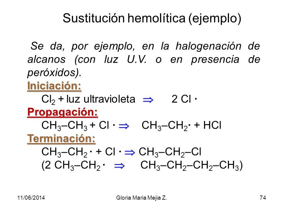 Sustitución hemolítica (ejemplo)