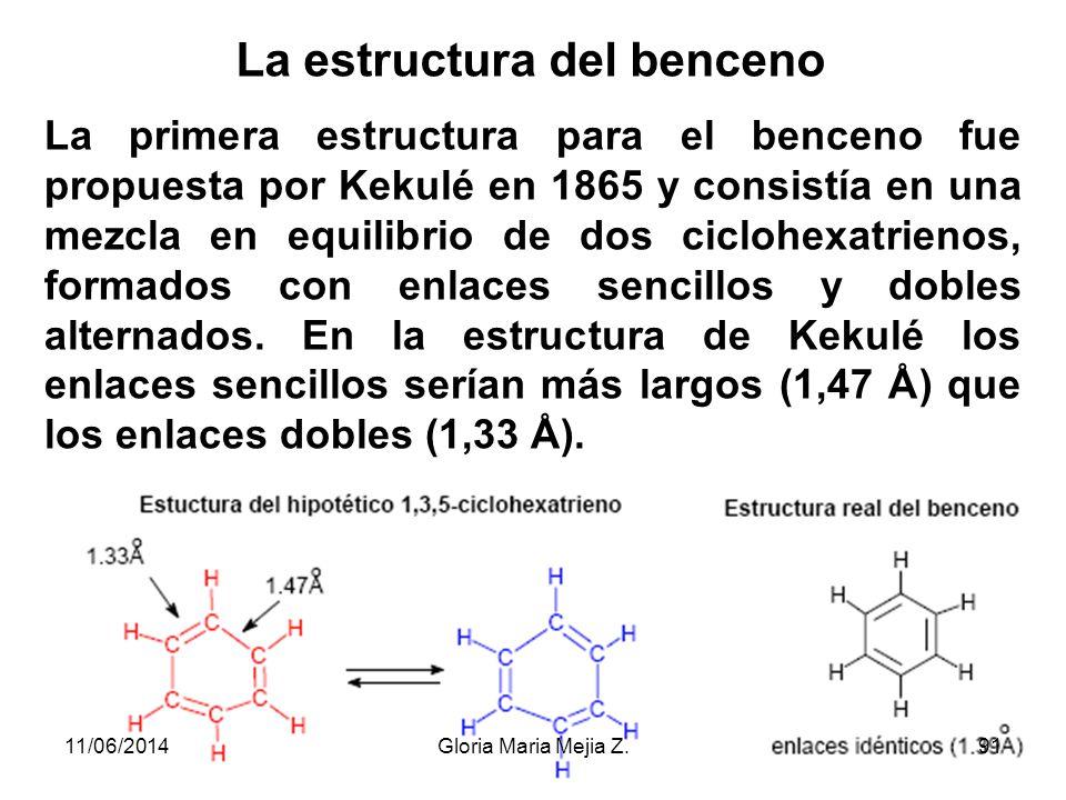 La estructura del benceno