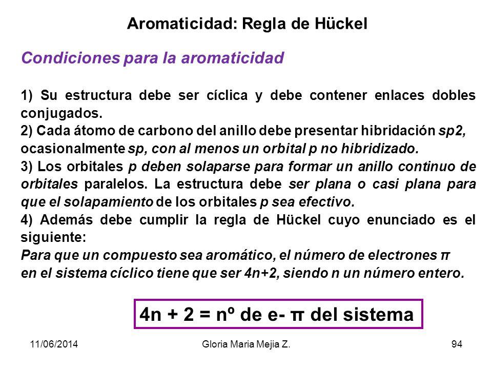Aromaticidad: Regla de Hückel