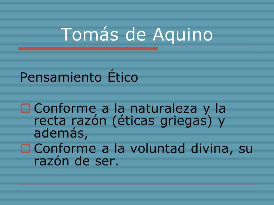 Tomás de Aquino Pensamiento Ético