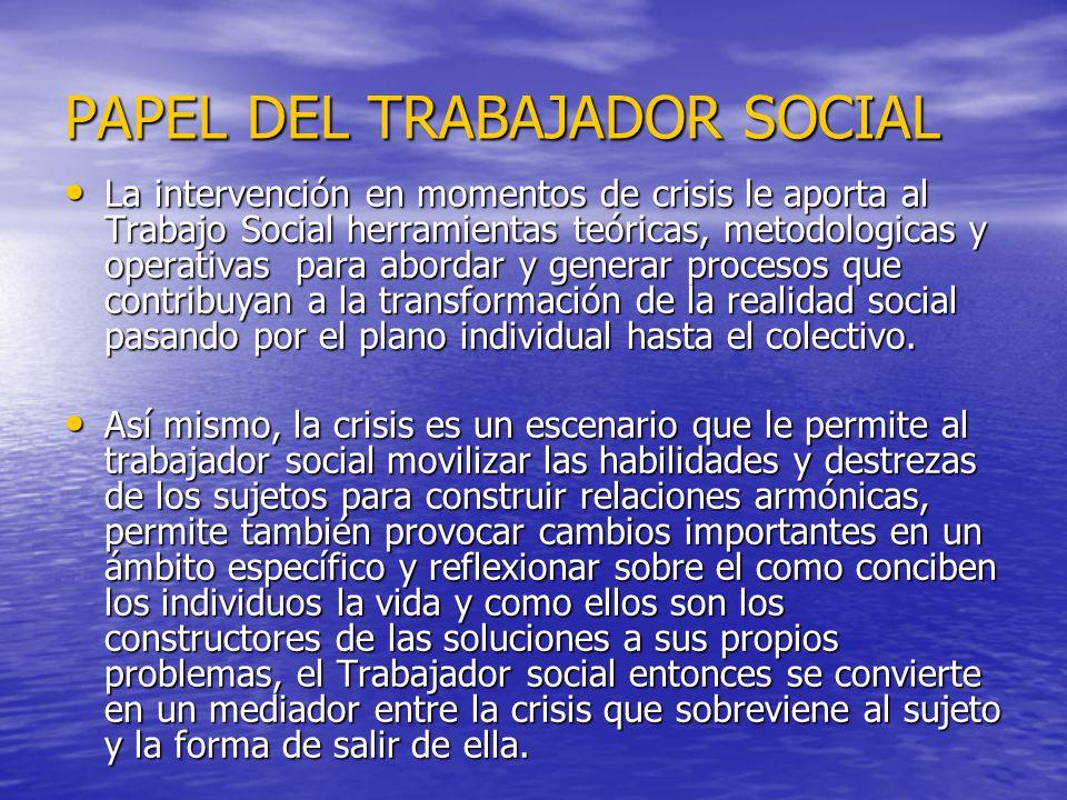 PAPEL DEL TRABAJADOR SOCIAL
