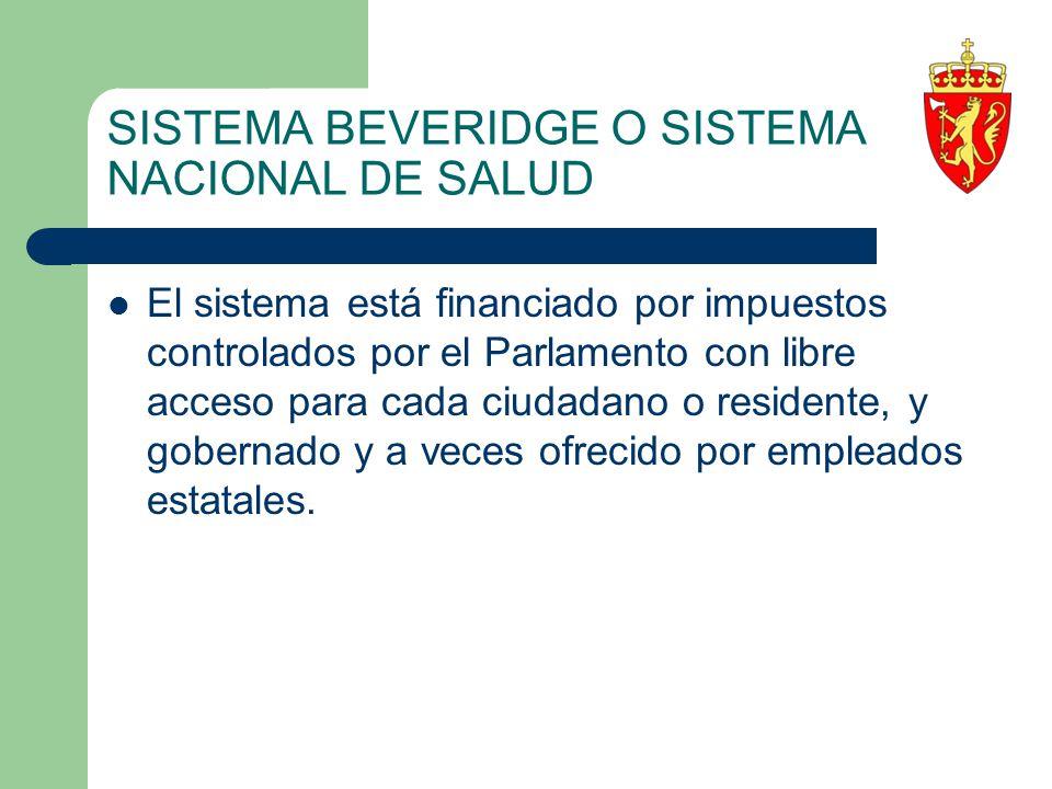 SISTEMA BEVERIDGE O SISTEMA NACIONAL DE SALUD