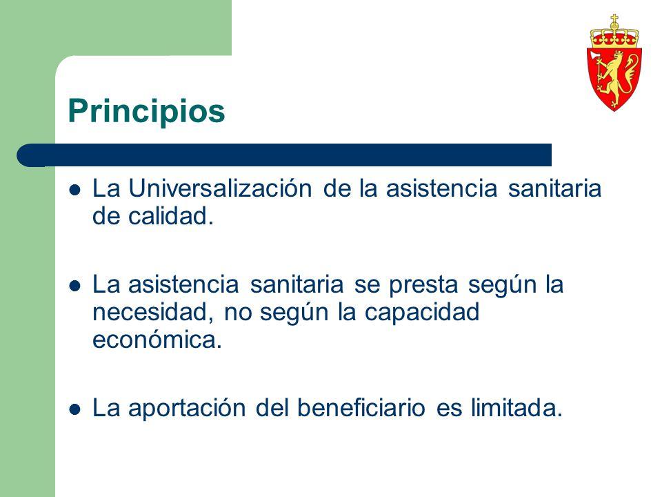 Principios La Universalización de la asistencia sanitaria de calidad.