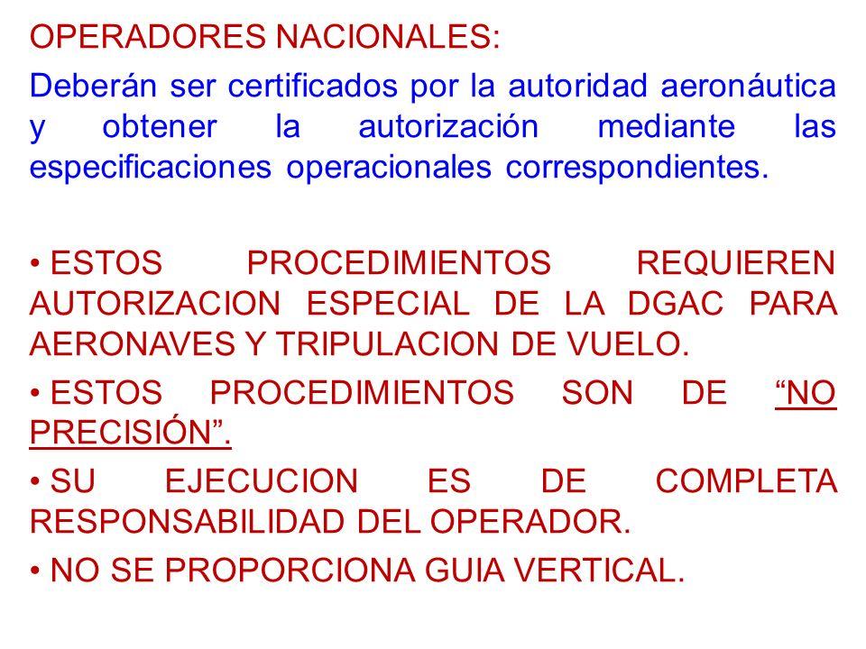 OPERADORES NACIONALES:
